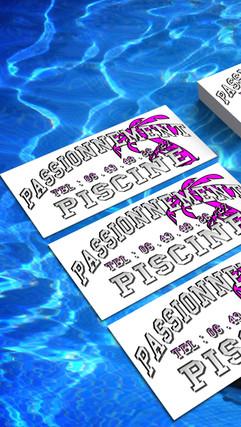 carte de visite passionnément  piscine