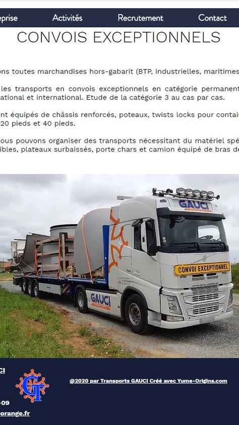 Transports GAUCI Site Vitrine