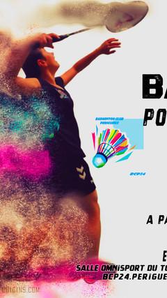 flyer ecole de badminton de périgueux