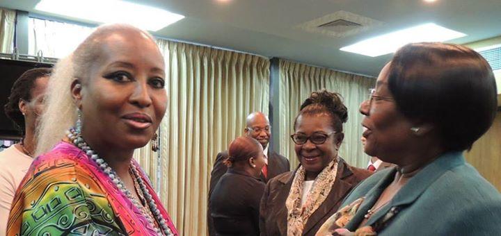 Facebook - Queen Shebah III greeting members of the Trinidad & Tobago Government