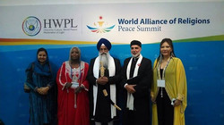 Facebook - (L) Repr.Religious Leaders IWPG Sikh Repr. Linguist of Akal Takht, Nu