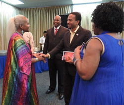 Facebook - Queen Shebah III greeting the most esteem Member Of Parliament H.E Ni