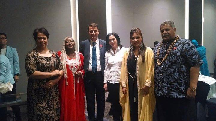 Facebook - (L-R) H.E Mrs. Schmidt Wife of Speaker-Of-Parliament Samoa, AKF-FOS F