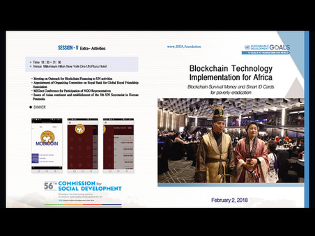 HSIO-Human Survival International Organizations and ISEA Foundation New York UN Conference 2018
