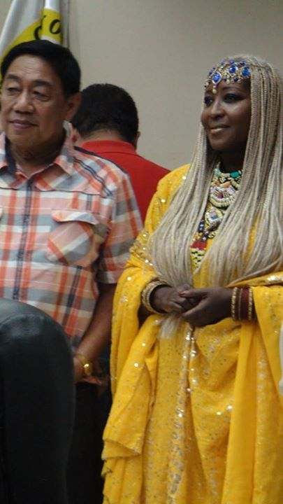 Facebook - The Empress Shebah III with the Speaker of the Bukidnon City Council