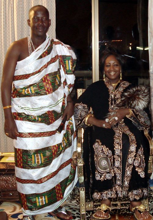 Facebook - Nubian Royals:   His Majesty King Kouadjo Adou Bibi II (on right of h
