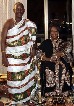 Facebook - Nubian Royals:   His Majesty King Kouadjo Adou Bibi II (on right of h