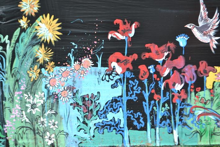 Outdoor temporary murals