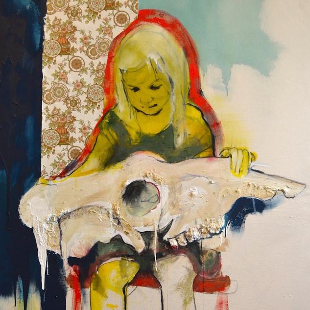 Girl & Skull