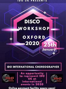 Disco Workshop - 25/1/2020