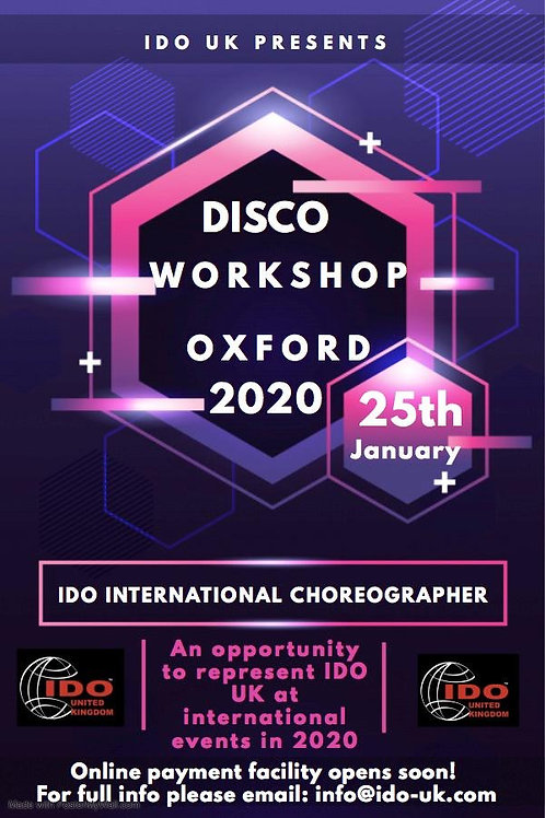Disco Workshop - 25/1/2020