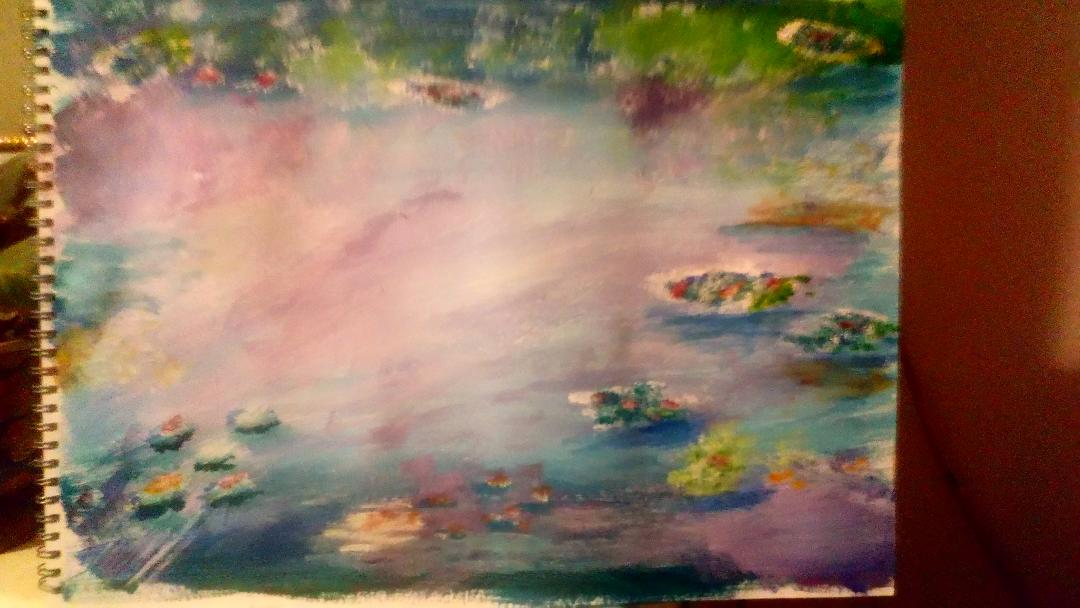 Monet's Water Lillies - My Version