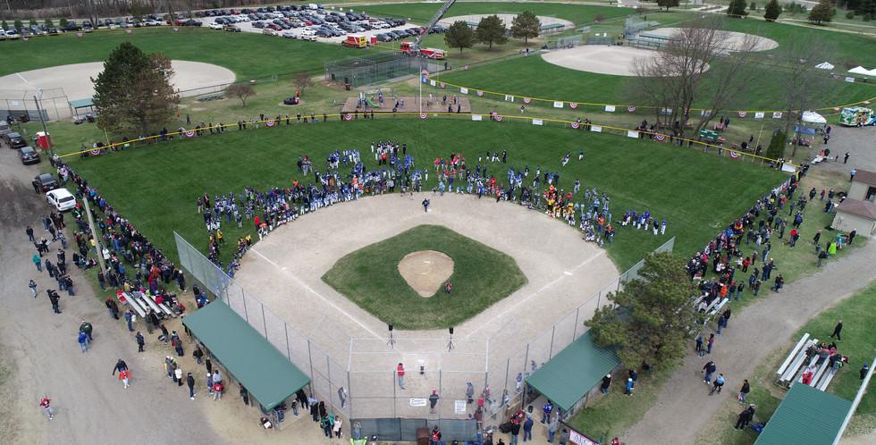 Little league baseball ceremony
