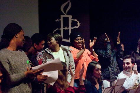 Concert at Amnesty International with the choir from Islington Centre for Refugees and Migrants