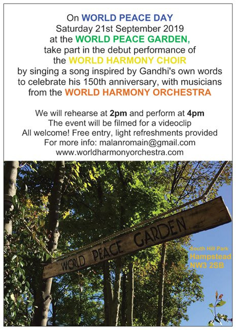 Launch of the World Harmony Choir on World Peace Day