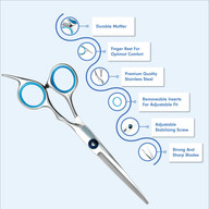 TruBiology - Men's Hair Cutting Scissors Product Infographic