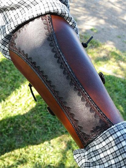 Basic Double Leather Bracer/Arm Guard