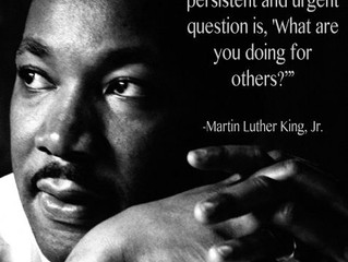 What We Can Do For Others: Reflections on MLK, Jr. Day