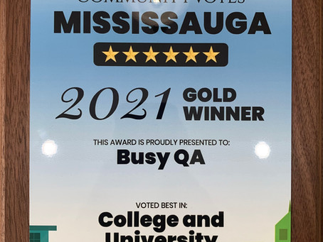 BusyQA wins Gold in Mississauga