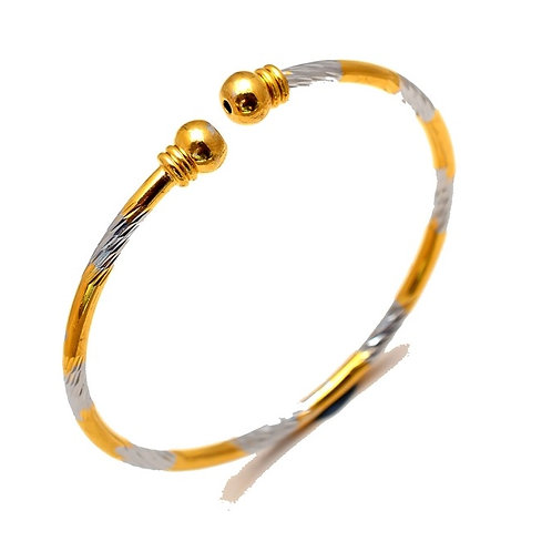 Two Tone Cuff Bracelet