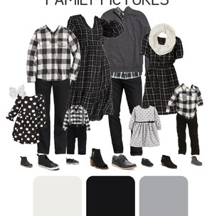 What to Wear for Family Pictures - Black