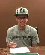 Hunter Barone selected as High School All-American and commits to Michigan State.