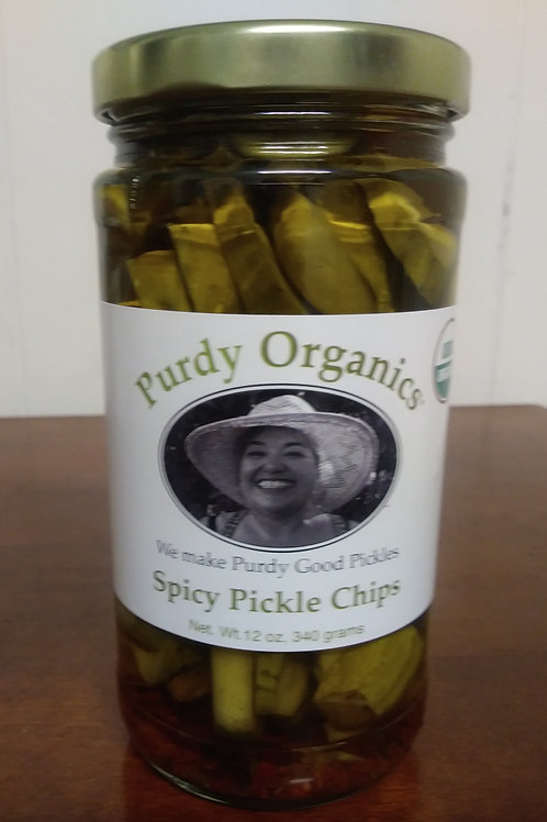 Spicy Pickle Chips 12 oz