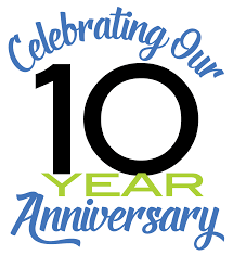 We Celebrate Our 10th Anniversary.