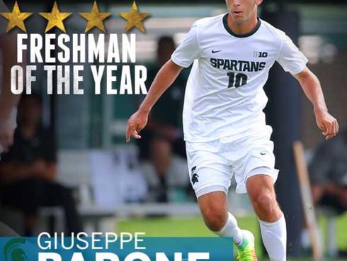 Giuseppe Barone Named Big Ten Freshman of the Year