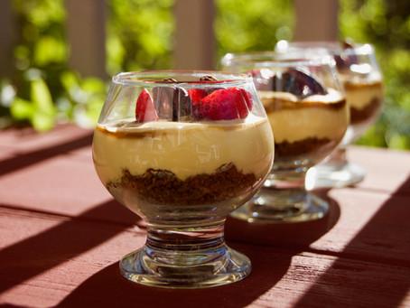No-Bake Kesar Mango Cheesecake