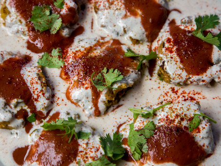 Paneer and Vegetable Cutlets with Spicy Yogurt and Tamarind Chutney