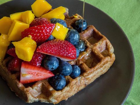 California Sunrise Waffles and Pancakes