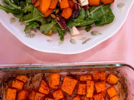 Roasted Peri-Peri Glazed Butternut Squash and Sweet Potato Salad