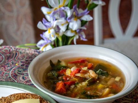 Garden Vegetable Minestrone Soup