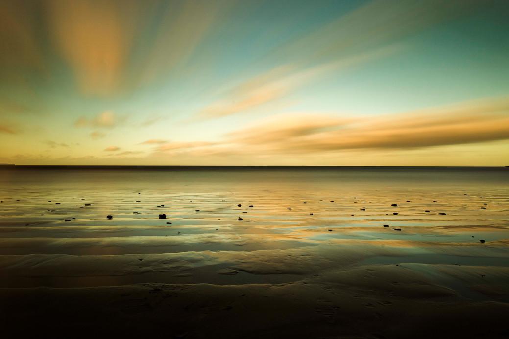 Long exposure of Saunton Sands
