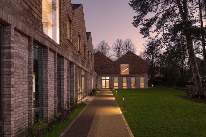 Exterior pictures of the newly completed Kingswood School, Bath.