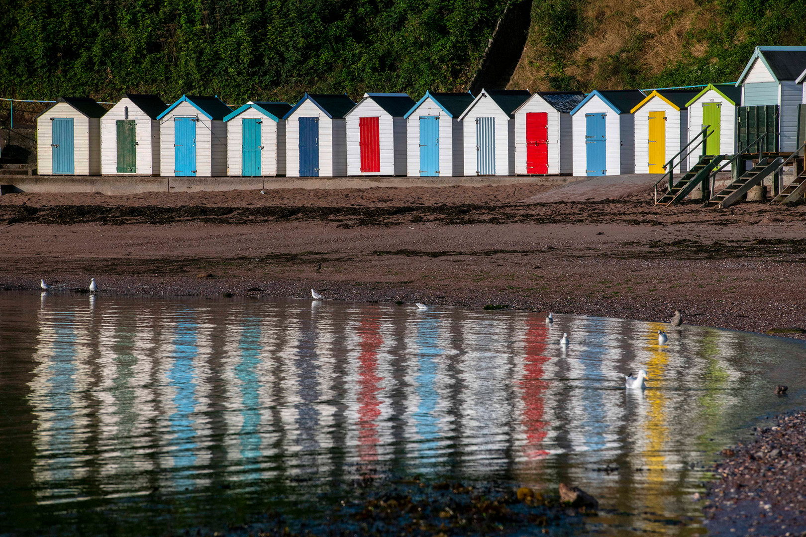 Beahc huts in Devon