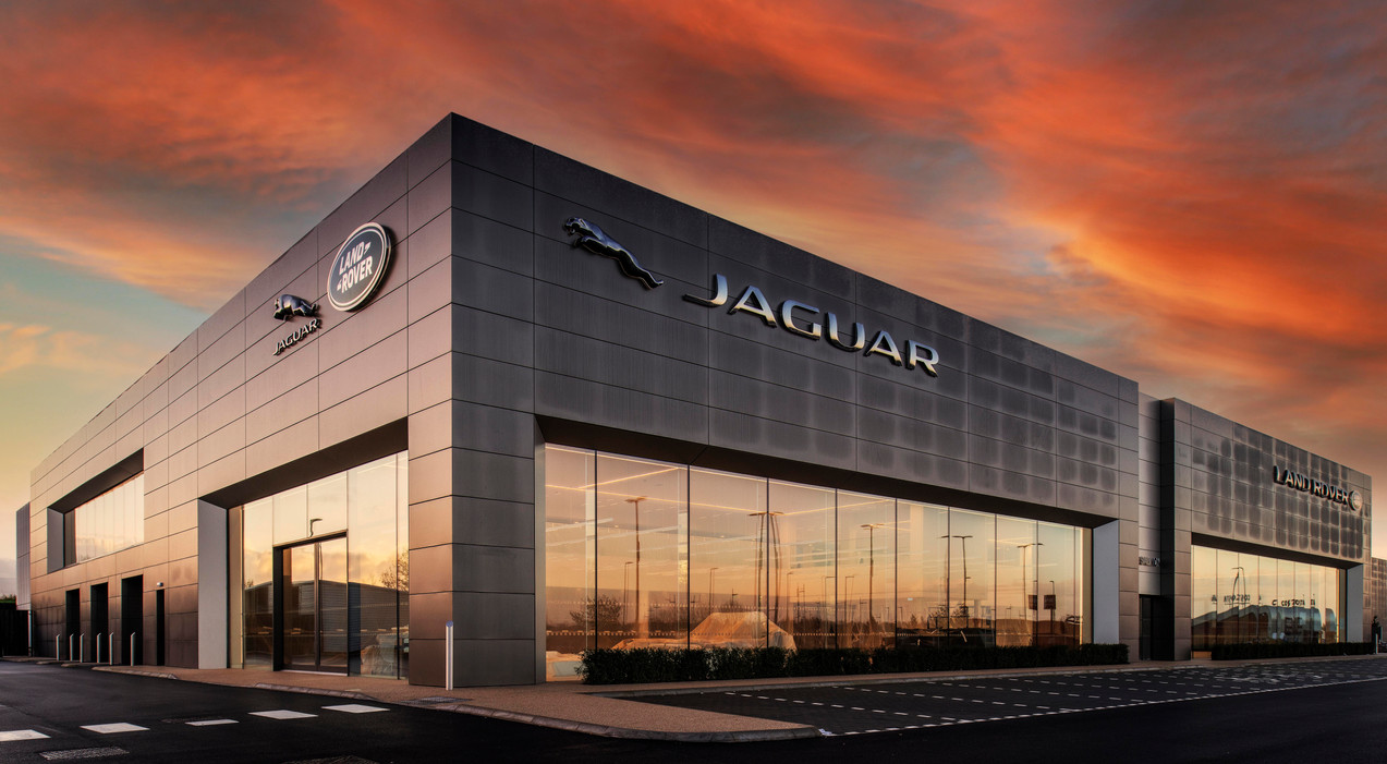 A new Jaguar, LandRover showroom.