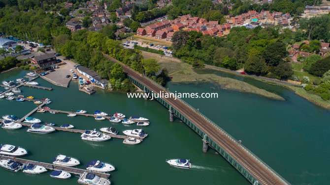 Drone footage in Hamble
