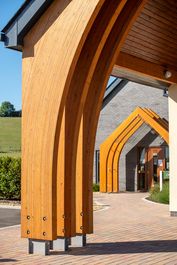 Architectural picture of a crematorium