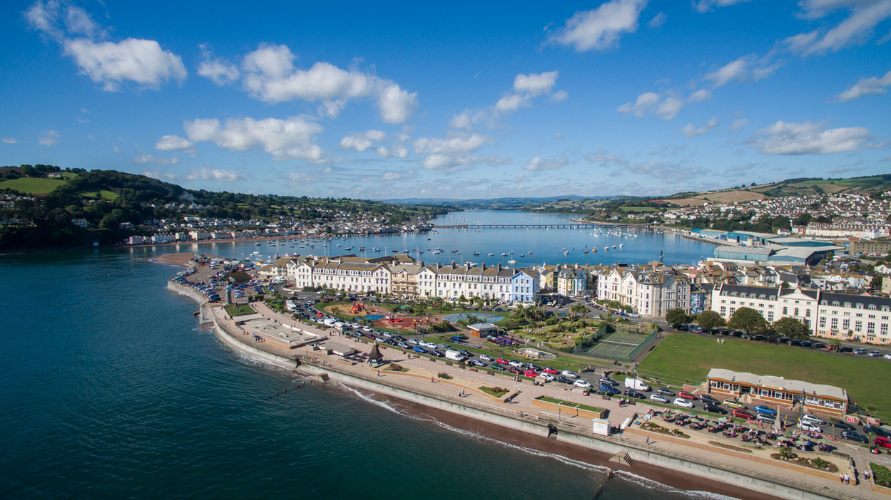 Drone picture of Teignmouth