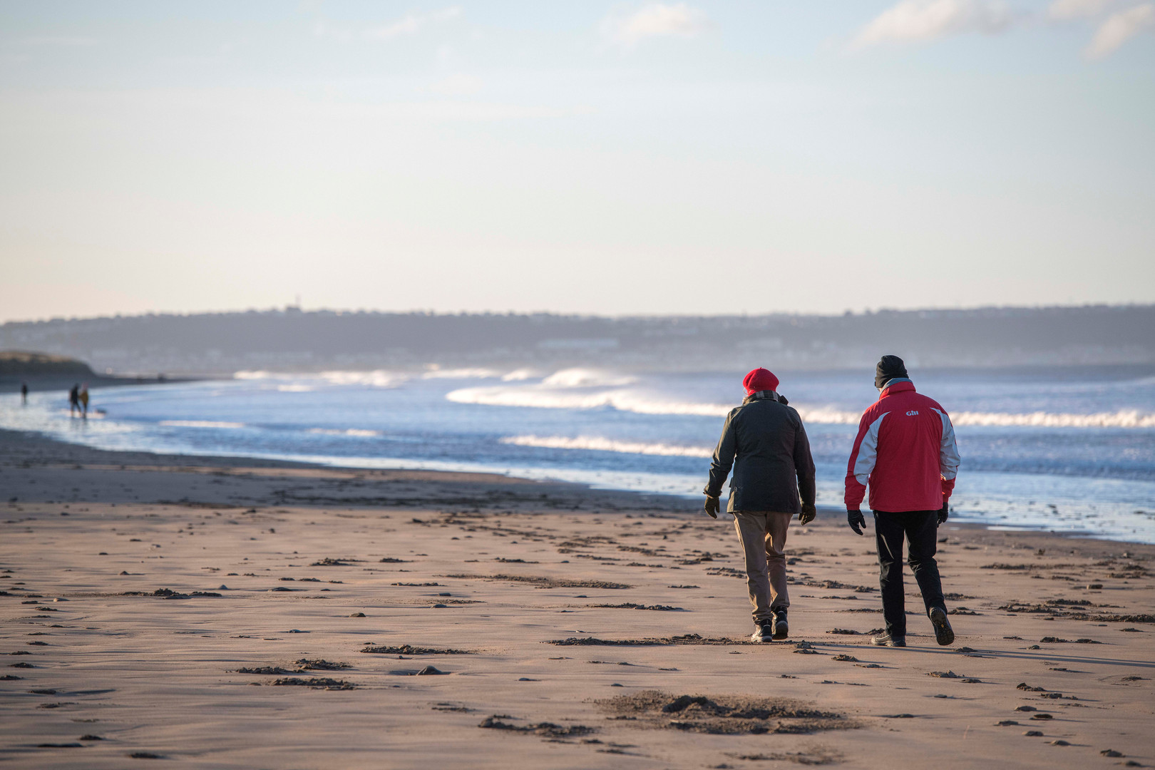 Waking the beach in the winter