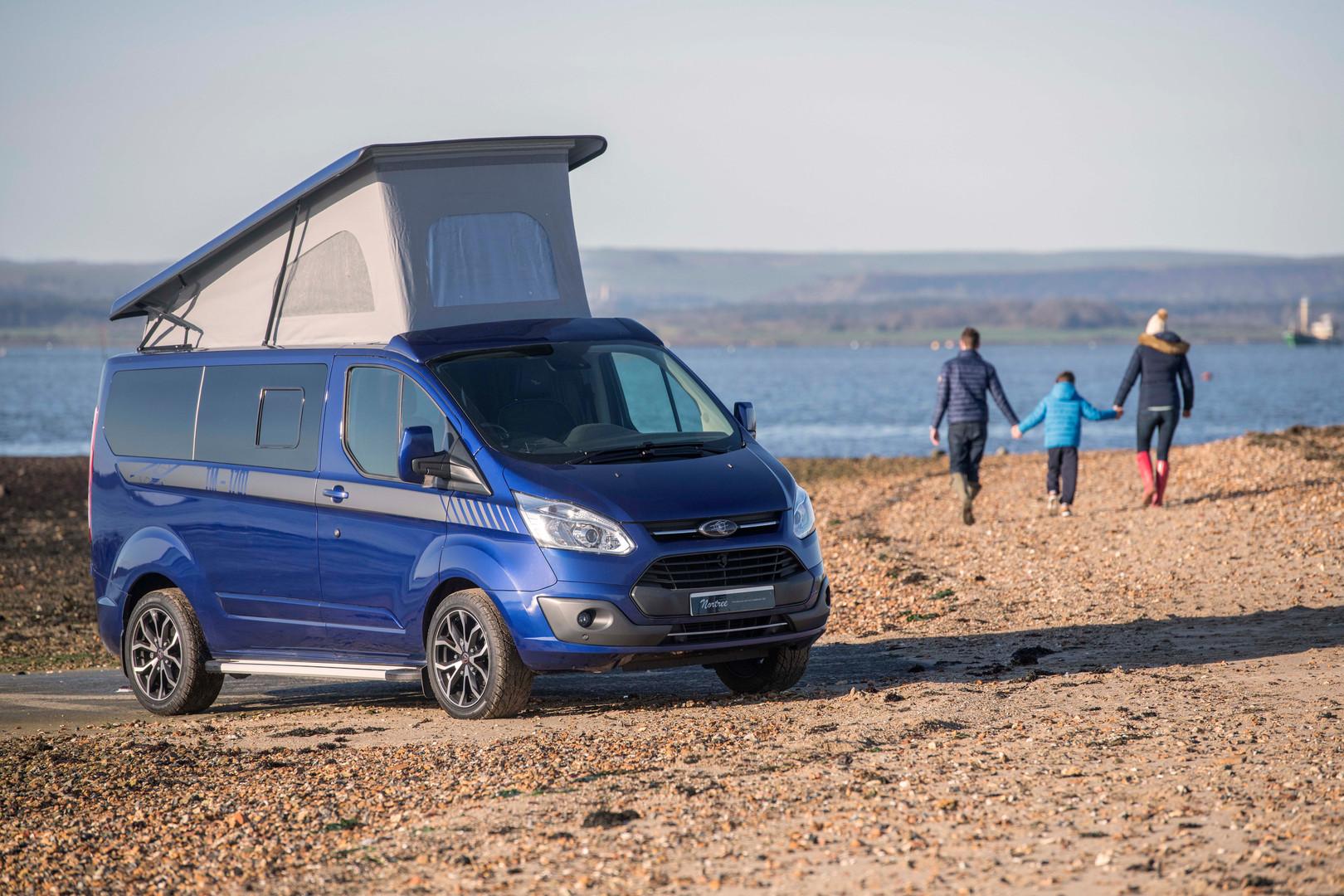 Advertising picture for a bespoke campervan builder