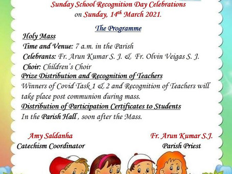 Catechism Recognition Day 2021