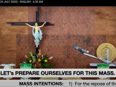 Mass Intentions at Live Streaming of Mass