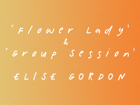 'The Flower Lady' & 'Group Session': Illustrations by Elise Gordon