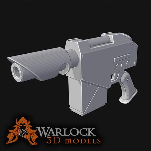 Laspistol inspired 3D printed prop kit