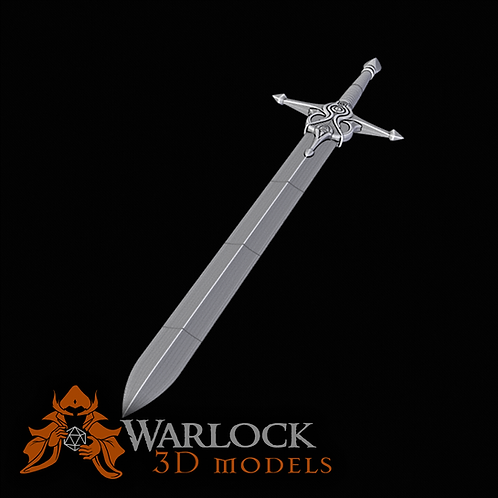 Alm's Royal Sword 3D printed prop kit