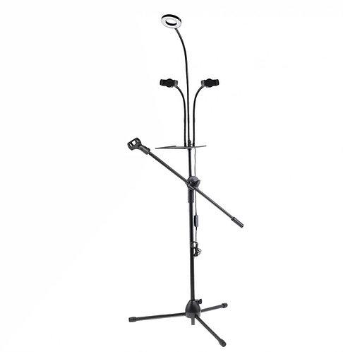 Напольная стойка для микрофона и смартфона
