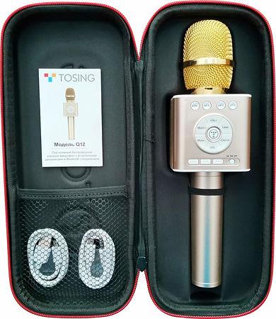 фирменный футляр микрофона для караоке.j